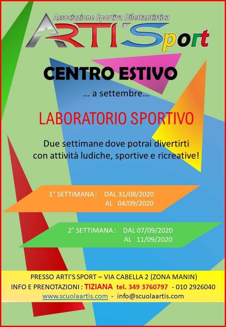 Artis lato1_cab CENTRO ESTIVO SPORTIVO